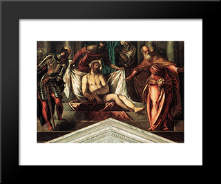 Crowning With Thorns: Modern Custom Black Framed Art Print by Tintoretto