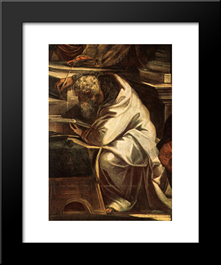 Christ Before Pilate [Detail: 1]: Modern Custom Black Framed Art Print by Tintoretto