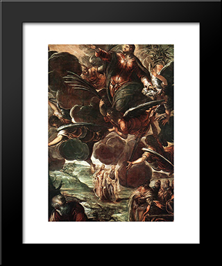 The Ascension [Detail: 1]: Modern Custom Black Framed Art Print by Tintoretto