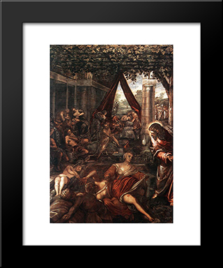 La Probatica Piscina: Modern Custom Black Framed Art Print by Tintoretto