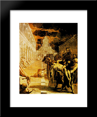 The Stealing Of The Dead Body Of St Mark: Modern Custom Black Framed Art Print by Tintoretto