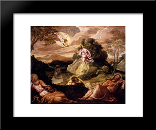 Agony In The Garden: Modern Custom Black Framed Art Print by Tintoretto