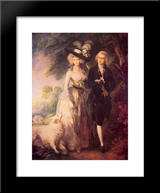 Mr And Mrs William Hallett: Modern Custom Black Framed Art Print by Thomas Gainsborough