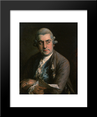 Johann Christian Bach: Modern Custom Black Framed Art Print by Thomas Gainsborough