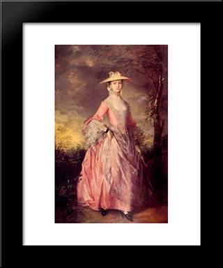 Mary, Countess Of Howe: Modern Custom Black Framed Art Print by Thomas Gainsborough