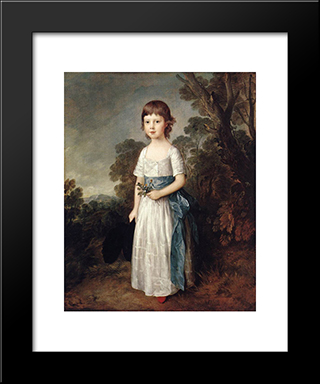 Master John Heathcote: Modern Custom Black Framed Art Print by Thomas Gainsborough