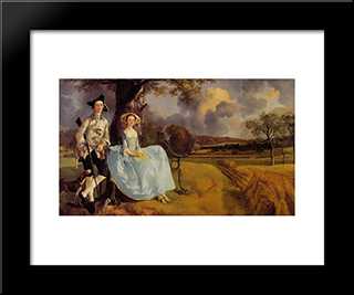 Mr And Mrs Andrews: Modern Custom Black Framed Art Print by Thomas Gainsborough