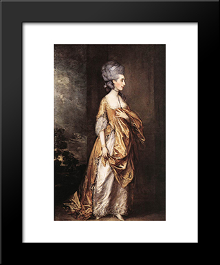 Mrs Grace Dalrymple Elliot: Modern Custom Black Framed Art Print by Thomas Gainsborough