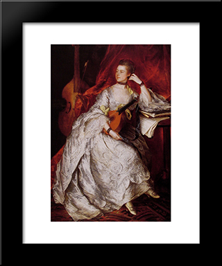 Ann Ford (Mrs Philip Thicknesse): Modern Custom Black Framed Art Print by Thomas Gainsborough