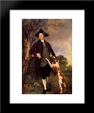 George, Lord Vernon: Modern Custom Black Framed Art Print by Thomas Gainsborough