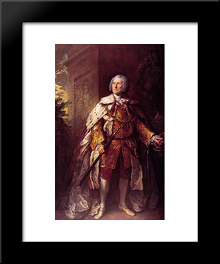 John, Fourth Duke Of Argyll: Modern Custom Black Framed Art Print by Thomas Gainsborough