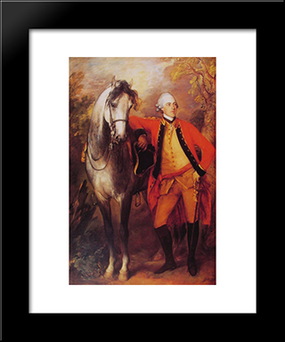 Lord Ligonier: Modern Custom Black Framed Art Print by Thomas Gainsborough