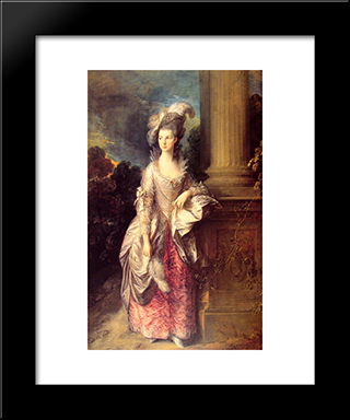 Mrs Graham: Modern Custom Black Framed Art Print by Thomas Gainsborough