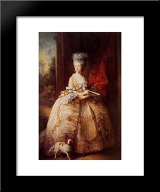 Queen Charlotte: Modern Custom Black Framed Art Print by Thomas Gainsborough