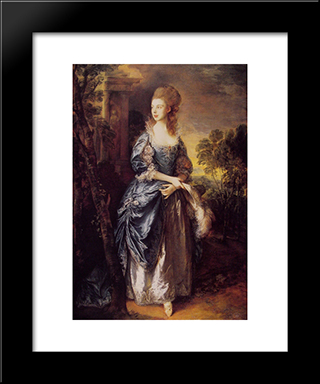 The Honourable Frances Duncombe: Modern Custom Black Framed Art Print by Thomas Gainsborough