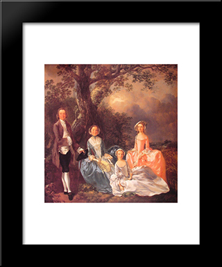 The Gravenor Family: Modern Custom Black Framed Art Print by Thomas Gainsborough