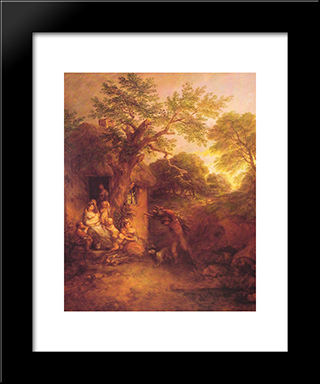 The Woodcutters' Return: Modern Custom Black Framed Art Print by Thomas Gainsborough
