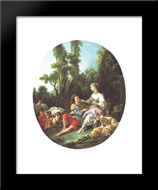 Are They Thinking About The Grape?: Modern Black Framed Art Print by Francois Boucher