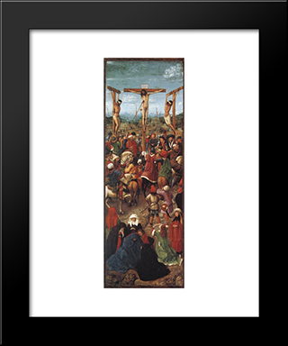Crucifixion: Modern Black Framed Art Print by Jan van Eyck