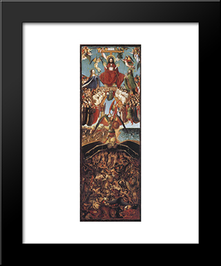 Last Judgment: Modern Black Framed Art Print by Jan van Eyck