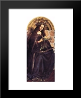 The Ghent Altarpiece: Virgin Mary: Modern Black Framed Art Print by Jan van Eyck