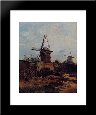 Le Moulin De Blute'Fin: Modern Black Framed Art Print by Vincent van Gogh