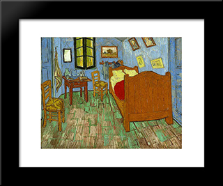 The Bedroom: Modern Black Framed Art Print by Vincent van Gogh