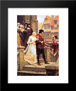 Call To Arms: Modern Black Framed Art Print by Edmund Blair Leighton
