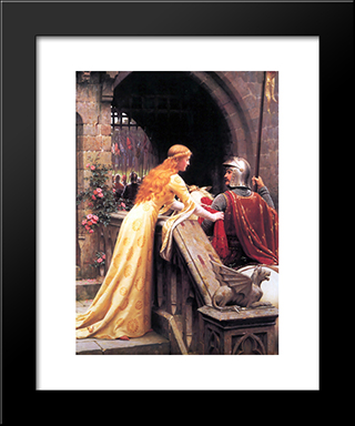 God Speed!: Modern Black Framed Art Print by Edmund Blair Leighton