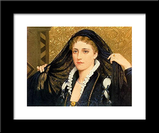Oliva: Modern Black Framed Art Print by Edmund Blair Leighton