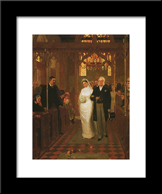 Till Death Us Do Part': Modern Black Framed Art Print by Edmund Blair Leighton