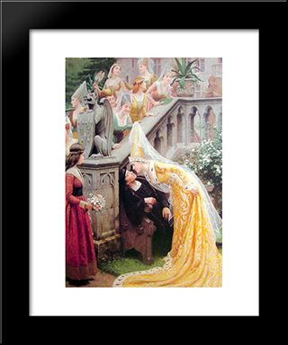 Alain Chartier: Modern Black Framed Art Print by Edmund Blair Leighton
