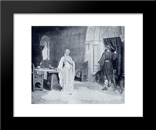 Lady Godiva: Modern Black Framed Art Print by Edmund Blair Leighton