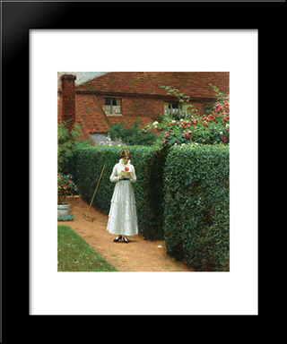 Le Billet: Modern Black Framed Art Print by Edmund Blair Leighton
