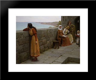 The Hostage: Modern Black Framed Art Print by Edmund Blair Leighton