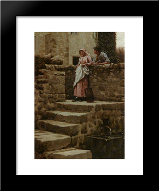 Sweethearts: Modern Black Framed Art Print by Edmund Blair Leighton