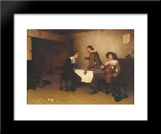 The Prisoner: Modern Black Framed Art Print by Edmund Blair Leighton