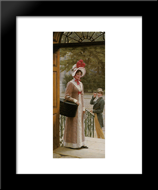 A Source Of Admiration: Modern Black Framed Art Print by Edmund Blair Leighton