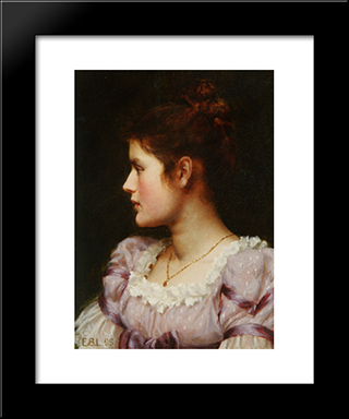A Study: Modern Black Framed Art Print by Edmund Blair Leighton
