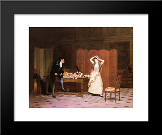The Preparations: Modern Black Framed Art Print by Jehan Georges Vibert
