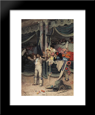 The Bullfighter'S Adoring Crowd: Modern Black Framed Art Print by Jehan Georges Vibert
