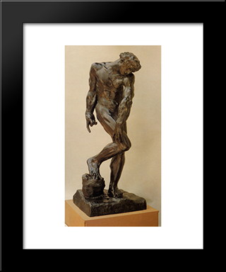 Adam [Detail: 1]: Modern Black Framed Art Print by Auguste Rodin