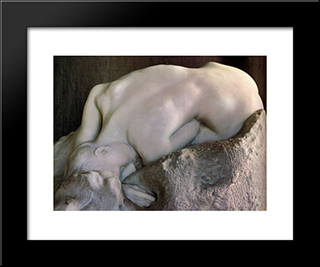 Danaid [Detail: 1]: Modern Black Framed Art Print by Auguste Rodin
