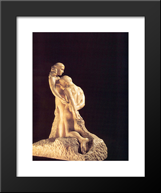 The Eternal Idol: Modern Black Framed Art Print by Auguste Rodin