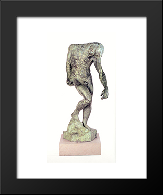 The Shade: Modern Black Framed Art Print by Auguste Rodin