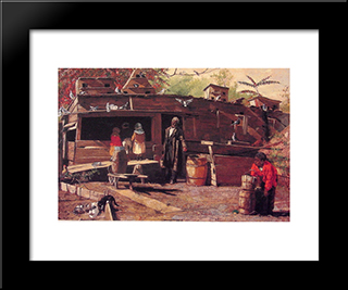 Uncle Ned At Home: Modern Black Framed Art Print by Winslow Homer