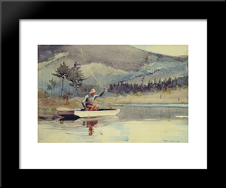 A Quiet Pool On A Sunny Day: Modern Black Framed Art Print by Winslow Homer
