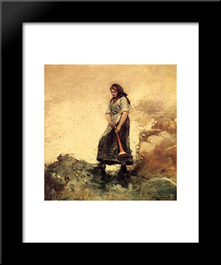 Daughter Of The Coast Guard: Modern Black Framed Art Print by Winslow Homer