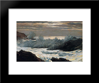 Early Morning, After A Storm At Sea: Modern Black Framed Art Print by Winslow Homer