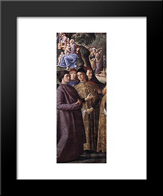 Baptism Of Christ [Detail: 2]: Modern Black Framed Art Print by Pietro Perugino